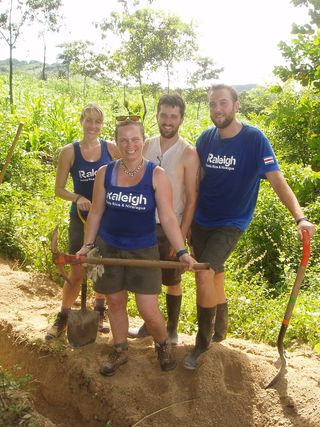Fieldbase team with tools